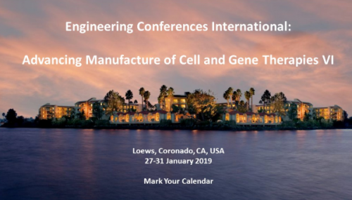 Advancing Manufacture of Cell and Gene Therapies VI ECI